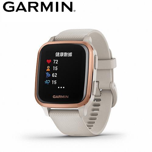 【GARMIN】VENU SQ Music GPS 智慧腕錶-白砂玫瑰金