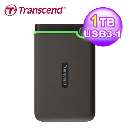 Transcend 创见 TS1TSJ25MC 1TB 军规防震硬盘