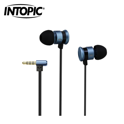 INTOPIC 广鼎 入耳式铝合金耳机麦克风 i81-BL