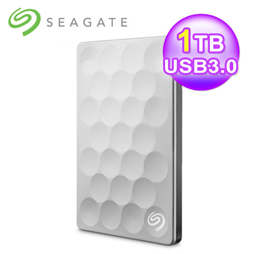 Seagate 希捷 Backup Plus Ultra Slim 1TB 2.5吋外接硬盘 白金