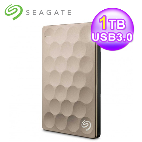 Seagate 希捷 Backup Plus Ultra Slim 1TB 2.5吋外接硬盘 金