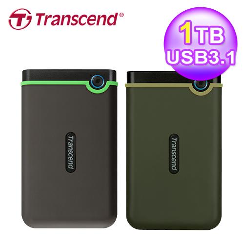 Transcend 创见 StoreJet 25M3 1TB 薄型行动硬盘 TS1TSJ25M3G 军绿
