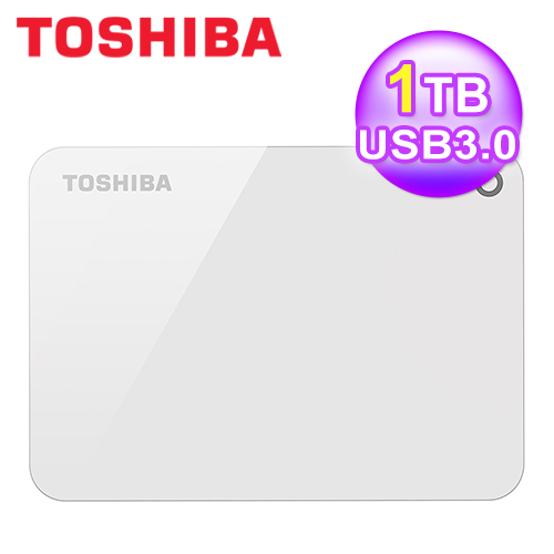【Toshiba 东芝】先进碟 V9 1TB USB3.0 2.5吋 外接硬盘(白)