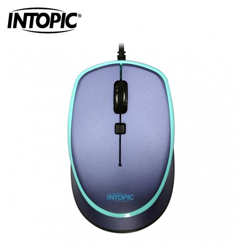 【INTOPIC 廣鼎】飛碟光學滑鼠(藍) MS-096