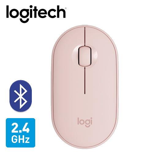 【Logitech 羅技】M350 鵝卵石無線滑鼠-玫瑰粉 【加碼贈不鏽鋼環保筷乙雙】