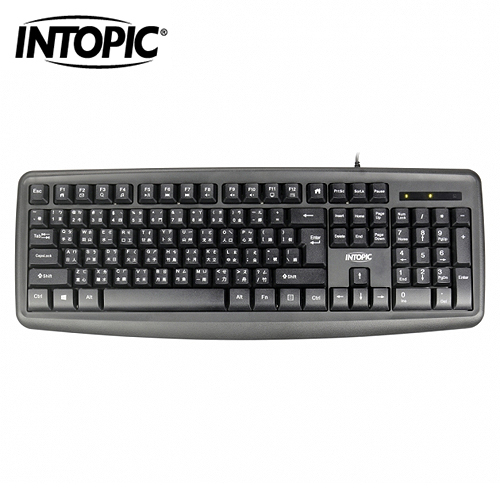 【INTOPIC 廣鼎】USB多媒體標準鍵盤(KBD-79)