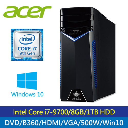 【Acer 宏碁】A Power T200 I7九代電競霸王主機